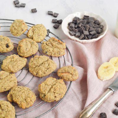Mandel-Bananen-Cookies ohne Zucker und Gluten